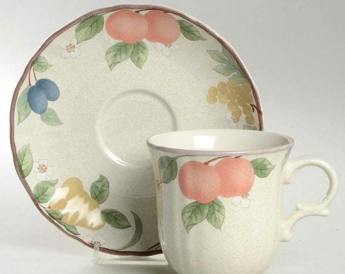 MIKASA - Cup & Saucer - Fruit Panorama Pattern