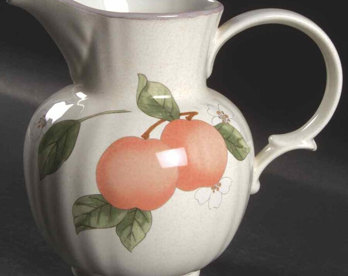 MIKASA - Milk Pitcher - Fruit Panorama Pattern (32 oz)