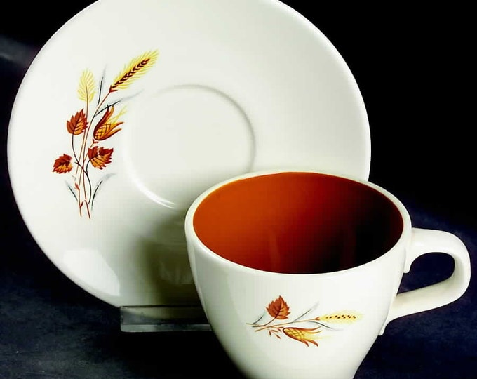 TAYLOR SMITH - Cup & Saucer - Autumn Harvest Pattern from the Ever Yours Line - 1960's