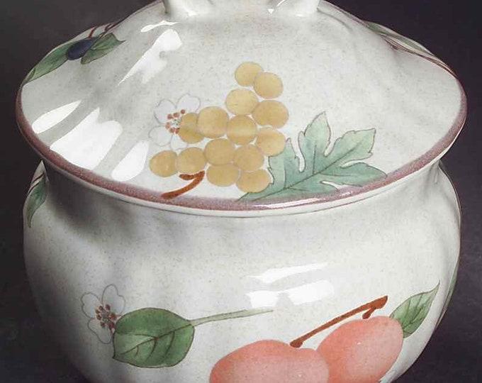 MIKASA - Sugar Bowl - Fruit Panorama Pattern