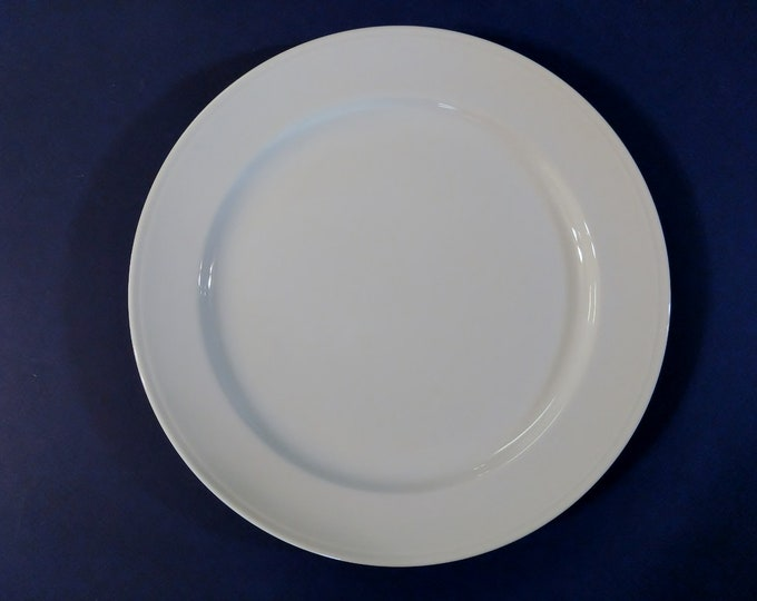 FURSTENBERG (West Germany) - Dinner Plate  - Simplistic White - Seit 1747