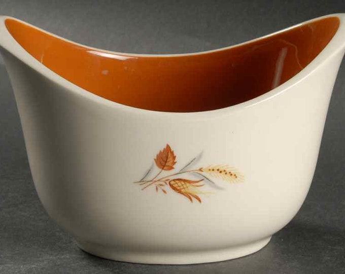 TAYLOR SMITH - Gravy Boat - Autumn Harvest Pattern from the Ever Yours Line - 1960's