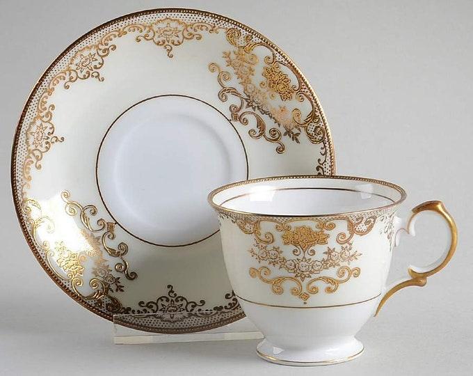 MEITO - Cup & Saucer - Goldwyn Pattern