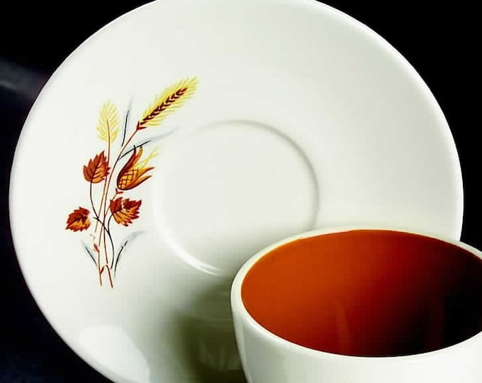 TAYLOR SMITH - Saucer - Autumn Harvest Pattern from the Ever Yours Line - 1960's