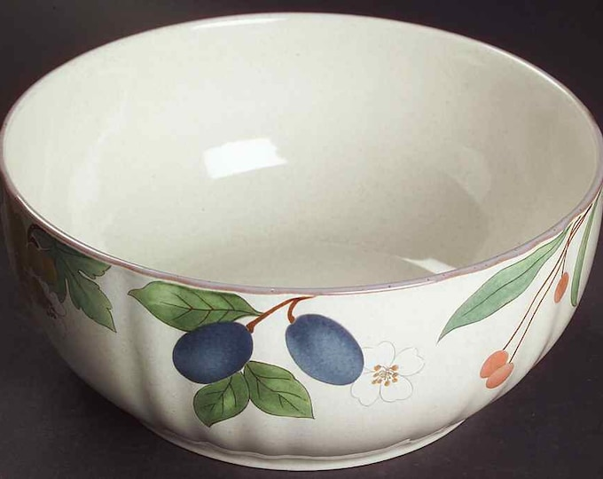 "MIKASA - 7 1/2"" Round Serving Bowl - Fruit Panorama Pattern"