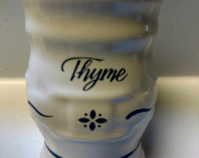 LONGABERGER - Spice Jar - THYME - Classic Blue Woven Traditions