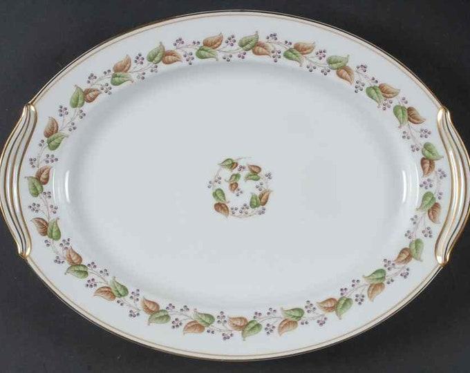"""NORITAKE - Serving Platter - Oval 16 1/2"""" - Cordova Pattern - Japan - circa 1951 to 1955"""