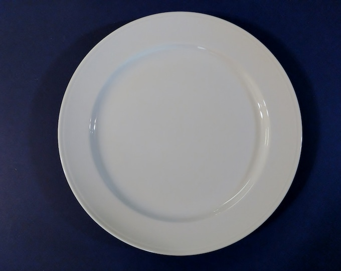 FURSTENBERG (West Germany) - Dinner Plate  - Simplistic White - Seit 1747
