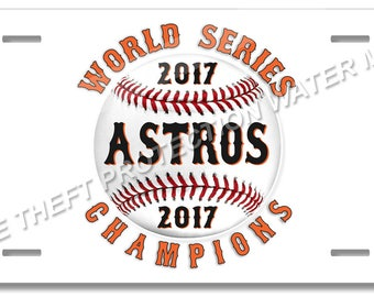 BRGiftShop Personalize Your Own Baseball Team Houston Car Vehicle 6x12 License Plate Auto Tag