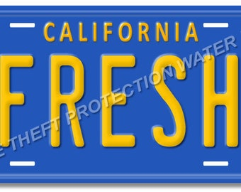 The Fresh Prince Of Bel Air FRESH Prop Replica Aluminum License Plate Tag