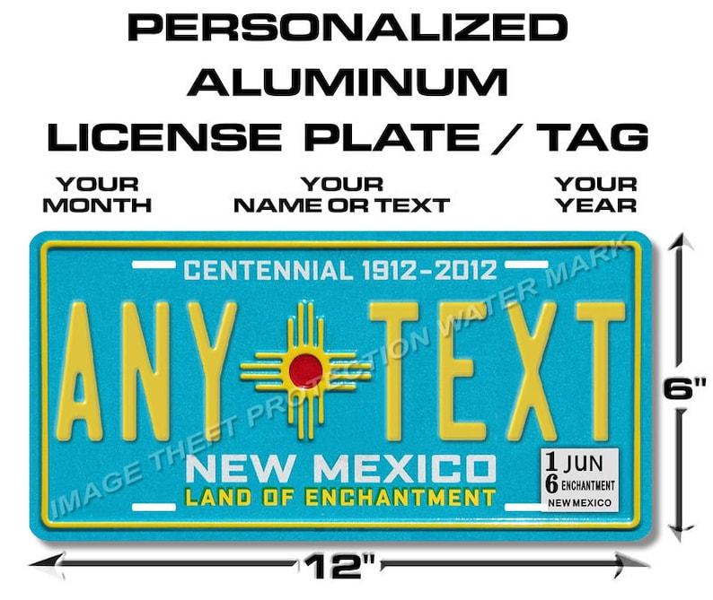 "Mexico Mexican Tamaulipas ANY TEXT Novelty Vanity License Plate Tag 6/""x12/"" New"