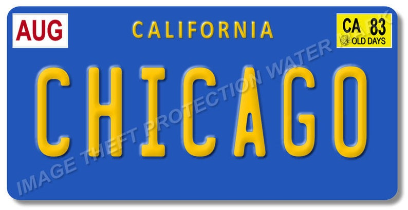 Chicago Rock Group Band Illinois Prop Replica License Plate Etsy