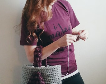 PATTERN: Crochet Tote Bag Pattern, Bobble Tote, crochet purse, chunky crochet bag pattern, crochet pattern, crochet tote tutorial