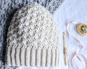 Crochet Hat Pattern // Crochet Beanie Pattern // Slouchy Hat Pattern // Crochet Shell Stitch Beanie PATTERN