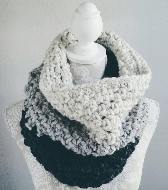Crochet Pattern Crochet Scarf Pattern Crochet Cowl Pattern Etsy