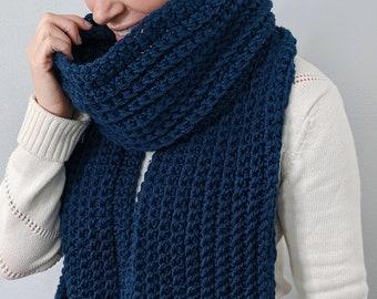 Crochet Scarf Pattern for beginners // Easy Crochet Scarf Pattern // Crochet Men's Scarf Pattern // Men's Crochet Pattern