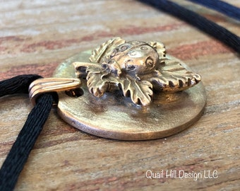 Bronze Ladybug Pendant Necklace Stocking Stuffer