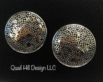 Argentium Sterling Silver and 22 karat Gold Earrings Jewelry