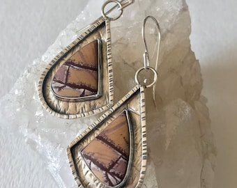 Sonora Dendritic Textured Argentium Sterling Silver Earrings