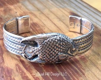 Queen Angelfish Cuff Argentium Sterling Silver and Fine Silver
