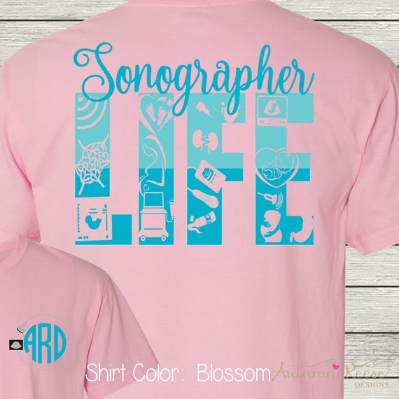 Monogrammed Cardiac Sonographer Customized Shirt Personalized 0C9dV