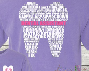 Monogrammed Dental Assistant Personalized Customized Student Dentist