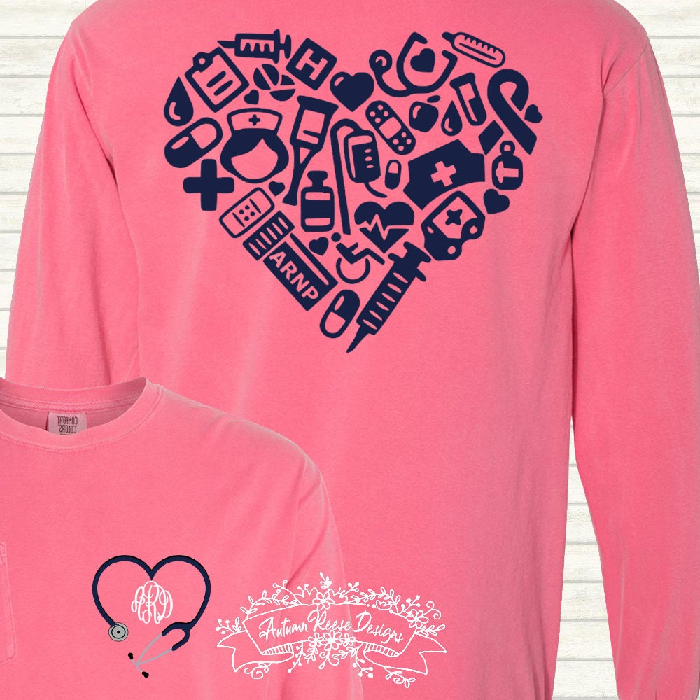 316b6e01af5f7 Nurse Practitioner ARNP Monogrammed Customized Shirt Personalized Comfort  Colors. gallery photo ...
