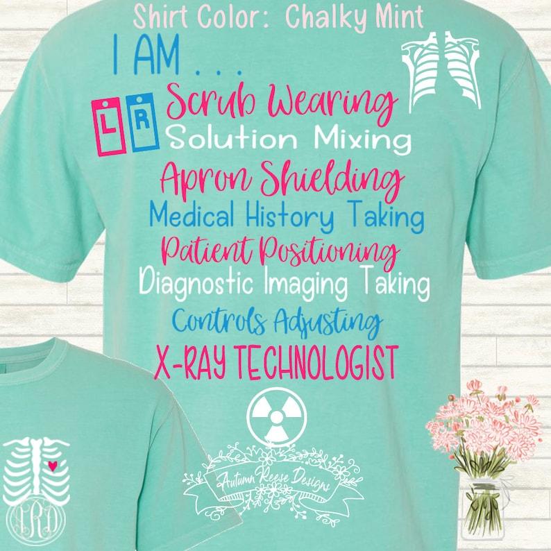 abde61c0 X-Ray Tech Technolgist T-Shirt Monogrammed Customized Shirt | Etsy