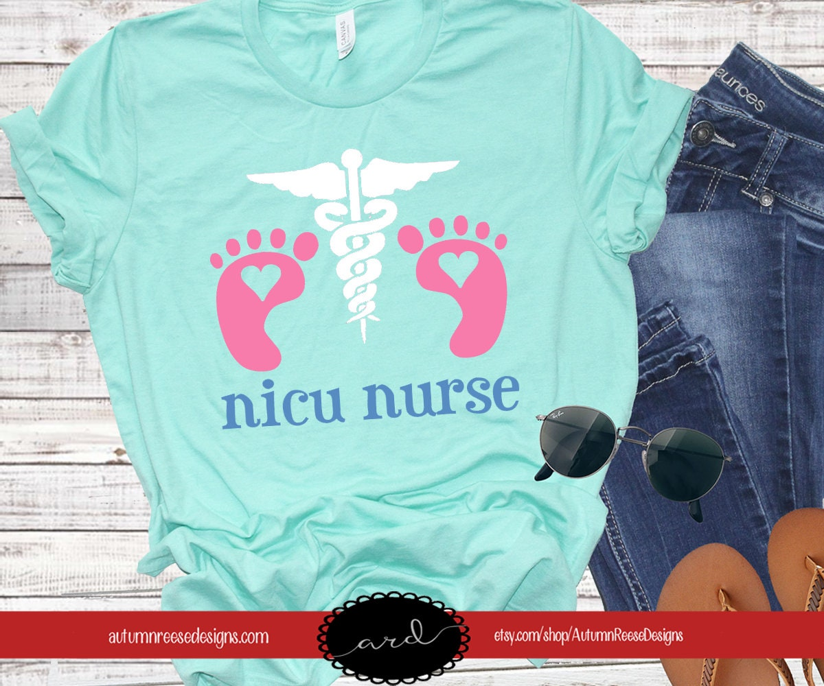 Nicu Nurse Rn Ladies Fitted Shirts Order Size Up Recommended