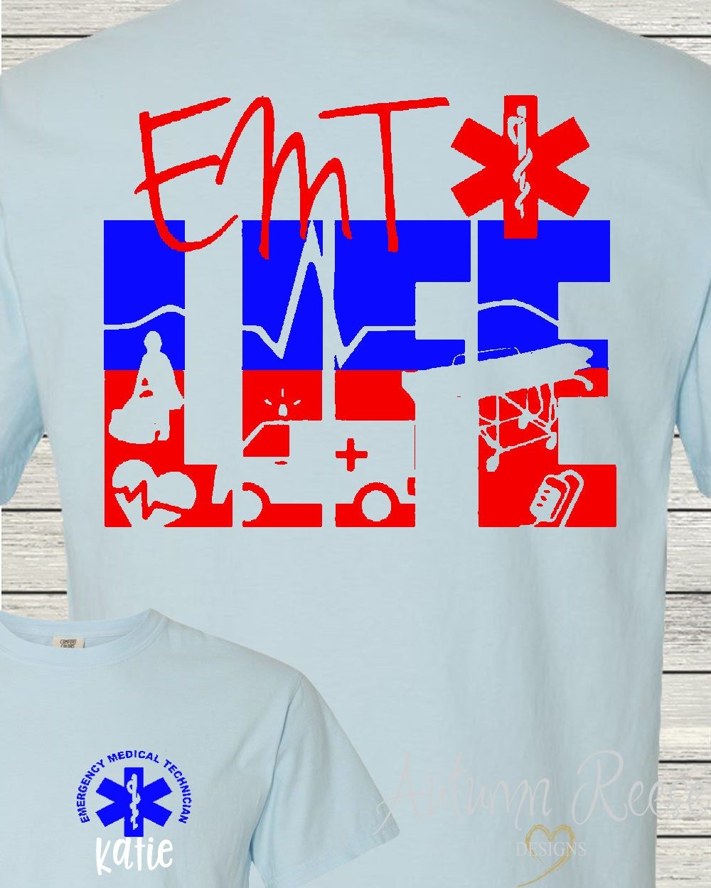 Emt Paramedic Life Emtlife Personalized Monogrammed T Shirt