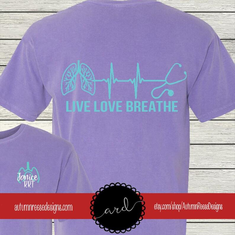 8afdb2e1 Respiratory Therapist Therapy Monogrammed Customized Shirt | Etsy