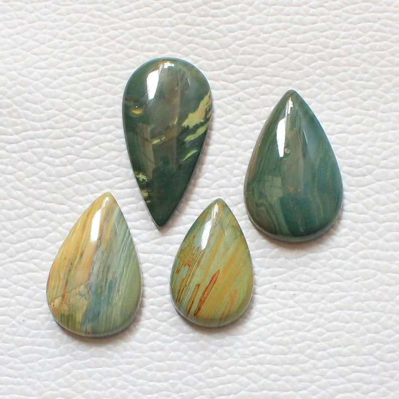 74.45 Carat 4 Pieces Lot Larsonite Cabochon Gemstone Mix Shape Larsonite Gemstone For Jewelry Making