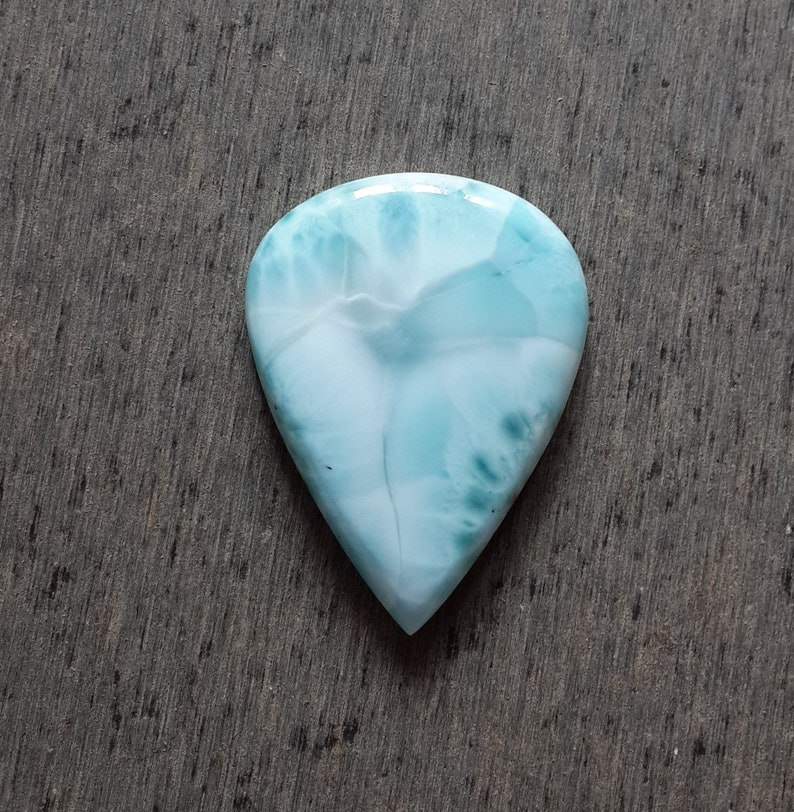Excellent Quality Blue Larimar Cabochon Loose gemstone 81.30 Cts Pear Shape Best For Pendant Larimar Gemstone