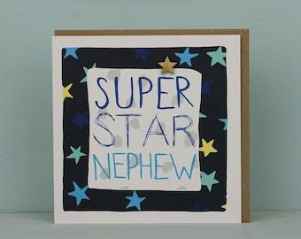 Neffe Geburtstag Karte Geburtstagskarte Fur Neffen Etsy