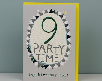 9th Birthday Card For A Boy Boys Nine Year Old Childrens Kids Cards