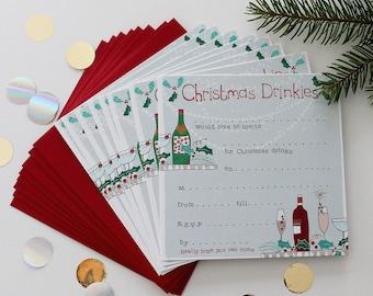 christmas party invitations etsy