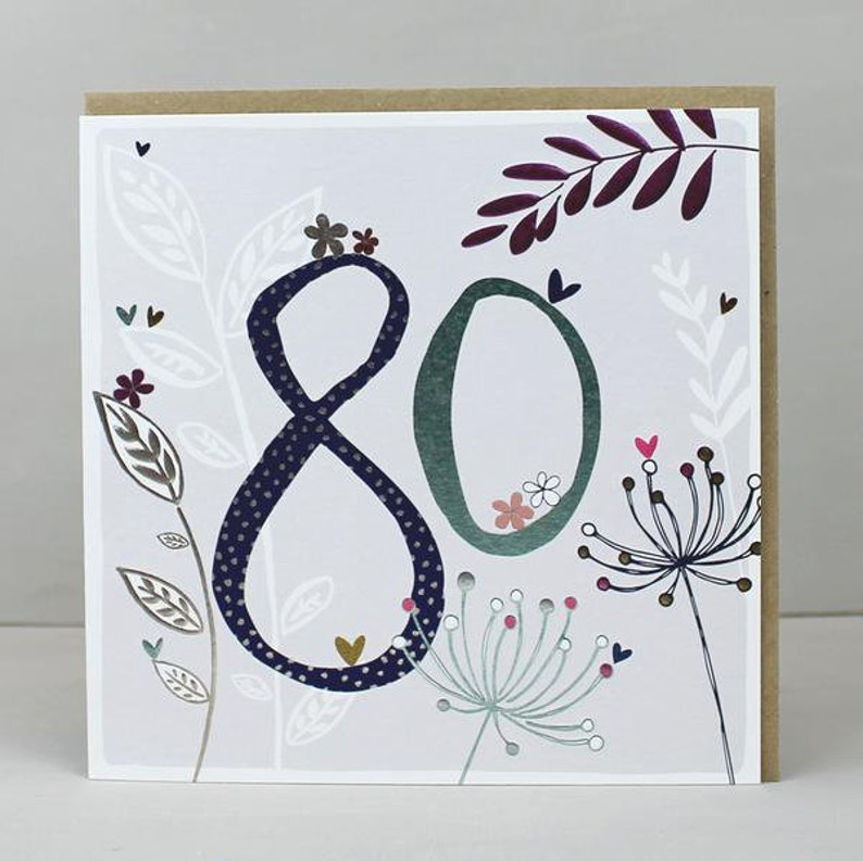 80th Birthday Card Female 80 Cards Wife