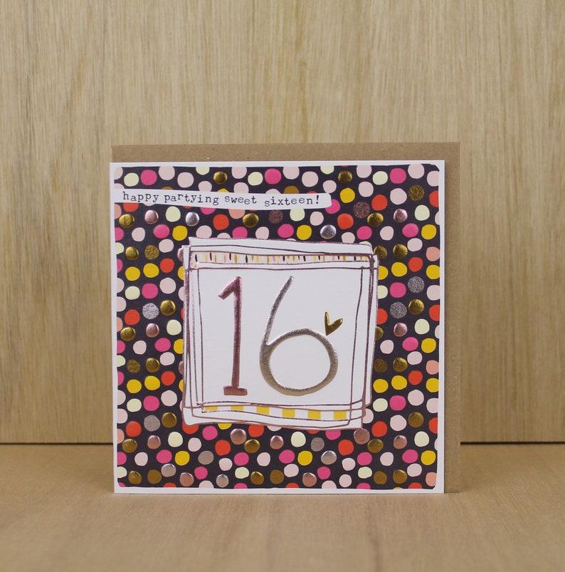 Sixteenth Birthday Card Female Age