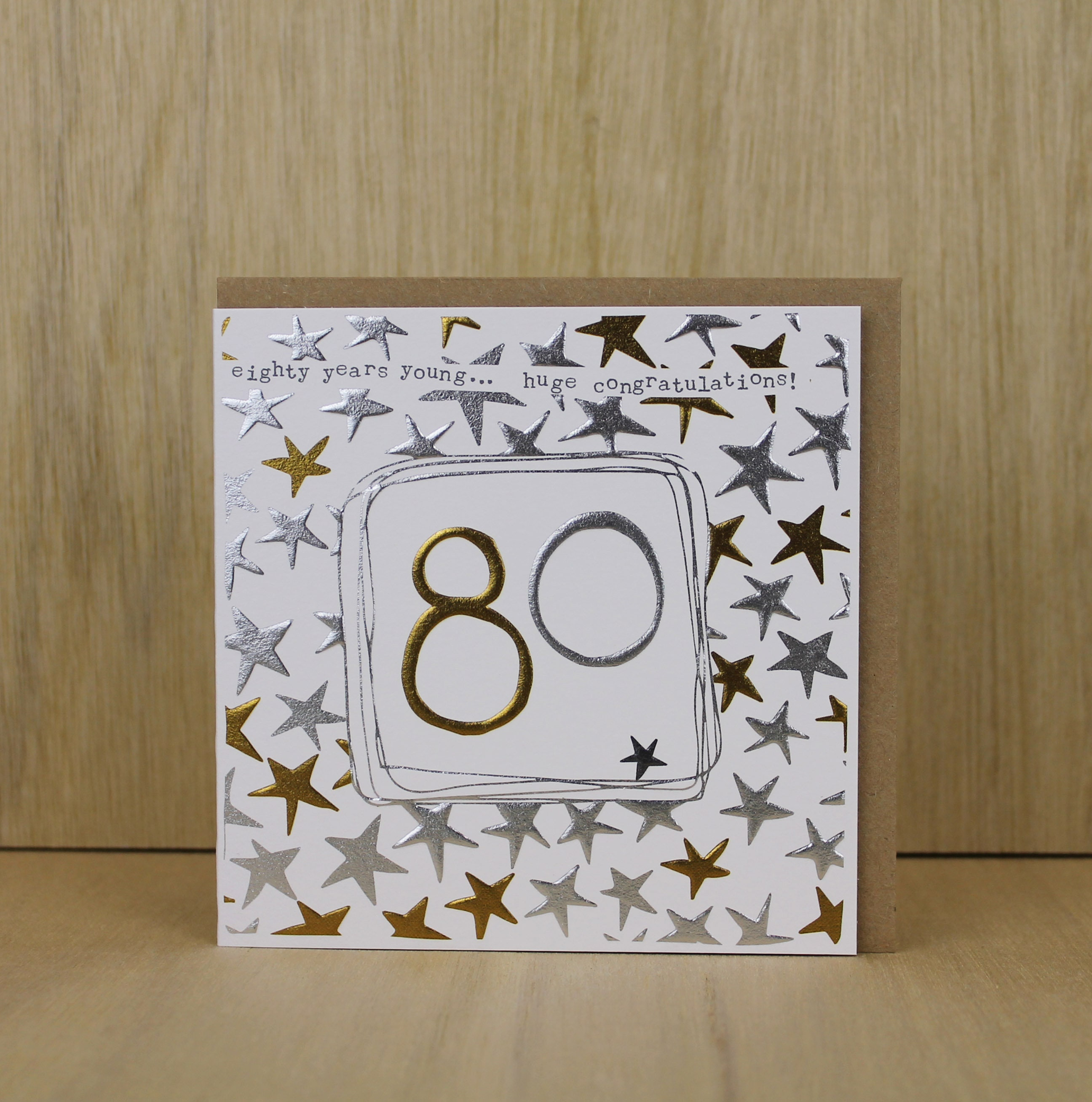 80th Birthday Card For A Man Or Woman