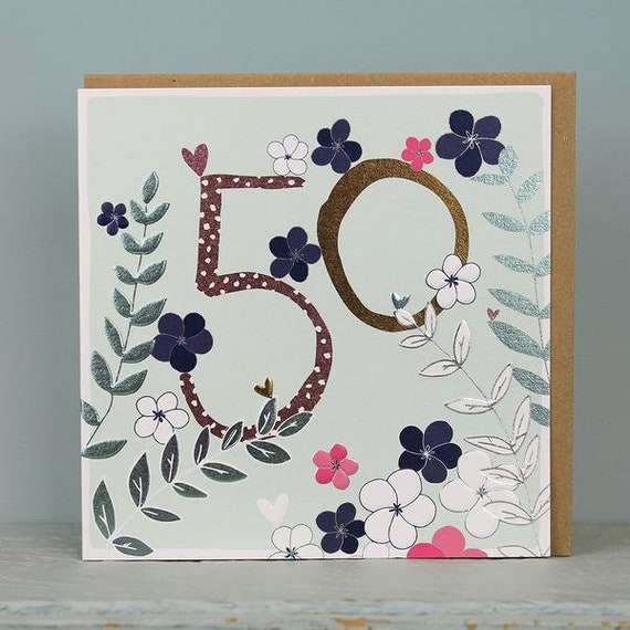 50th Birthday Card 50 Years Old Age Cards Female
