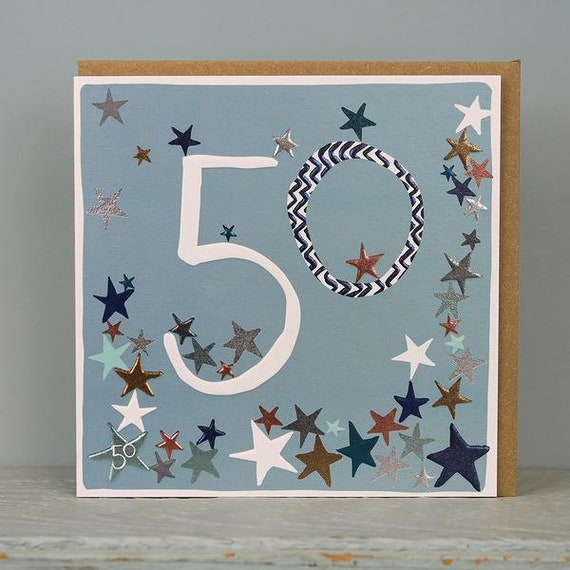 50th Birthday Card 50 Years Old Age Cards Male