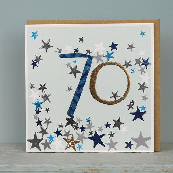 70th Birthday Card 70 Years Old Age Cards Male
