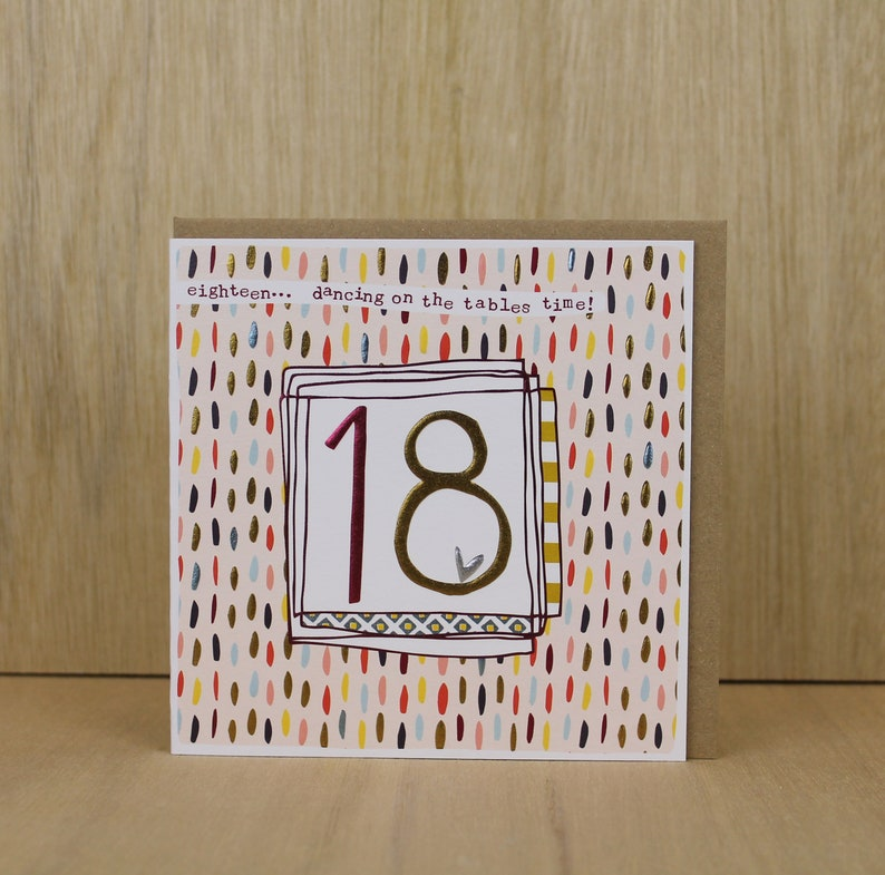 18th Birthday Card Female Eighteenth