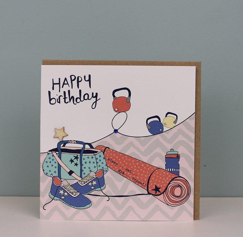 Happy Birthday Card Female For A Friend Gym