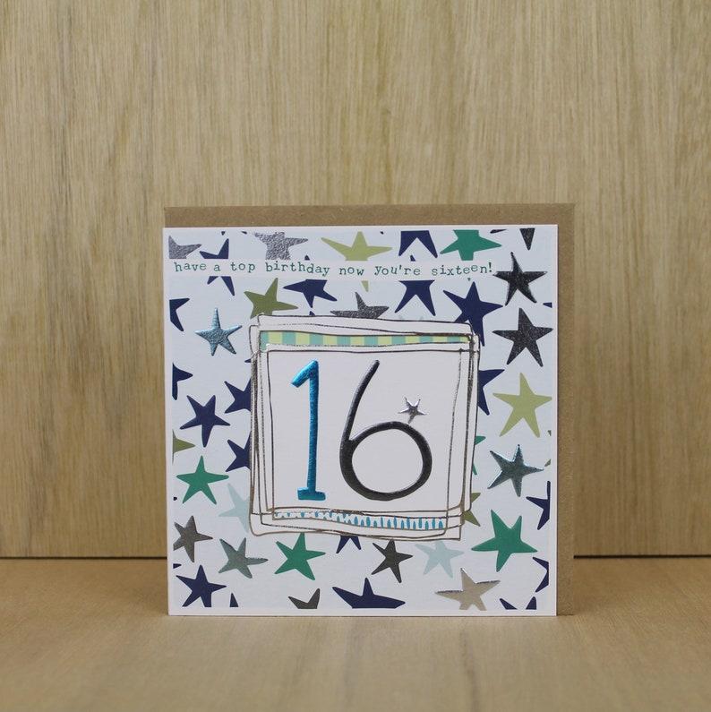 Sixteenth Birthday Card Male Age