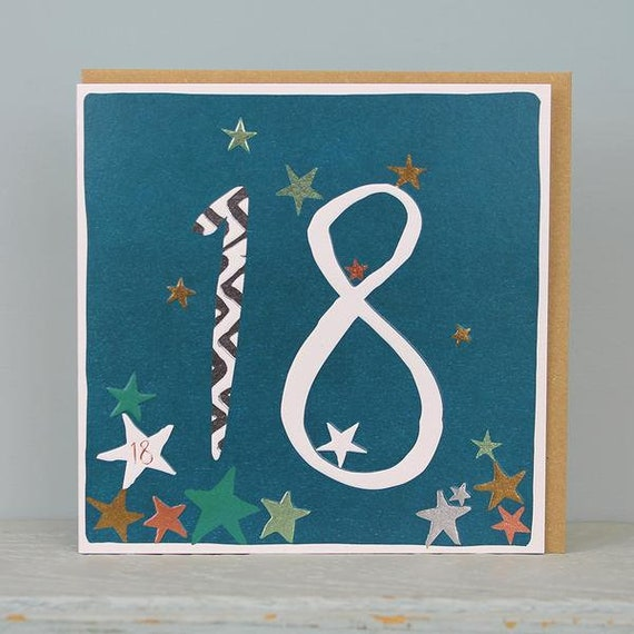 18th Birthday Card 18 Years Old Age Cards Male