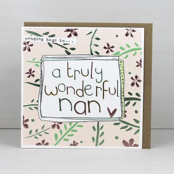 Nan Birthday Card For Happy