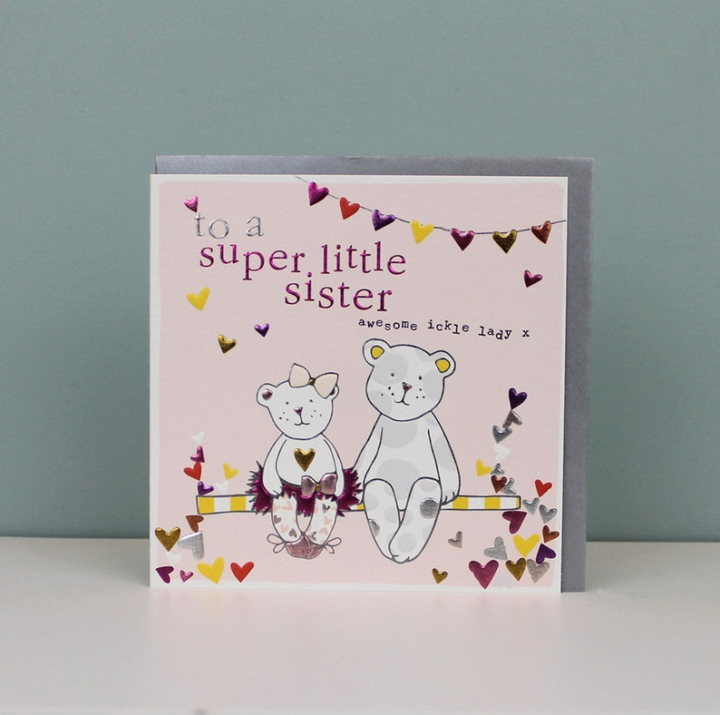 Sister Birthday Card Little