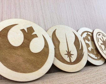 Star Wars set of 4 Coasters - Valentine's day gift for him