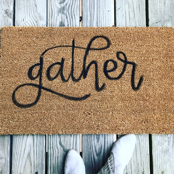 gather welcome mat